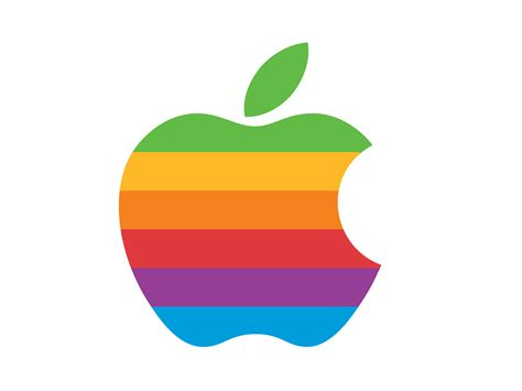 colored apple give the apple menu a retro look with a colored apple logo