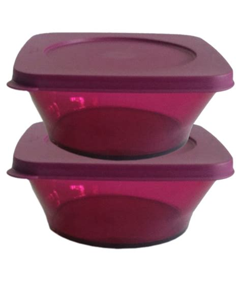 Tupperware Shelf Saver Purple 2pcs tupperware purple polypropylene storgae container 2 buy at best price in india