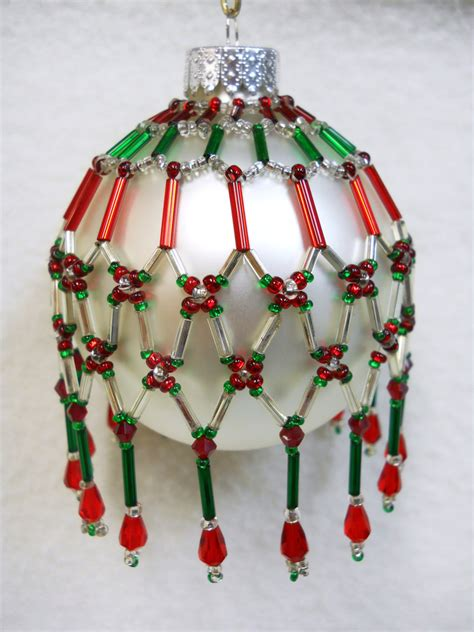 pattern beaded christmas ornaments pattern only beaded christmas ornament cover holiday original