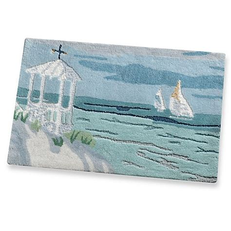 coastal collage bath rug bed bath beyond