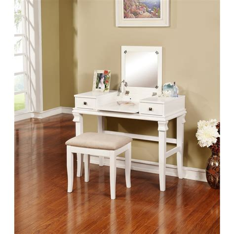 linon home decor vanity set linon home decor angela 2 piece white vanity set 98373wht