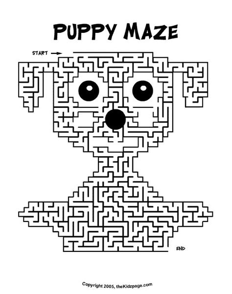 printable animal activity book puppy maze activity sheet free coloring pages for kids