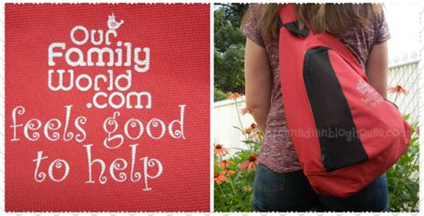 Canadian Blog Giveaways - our family world sling bags review giveaway canadian blog house