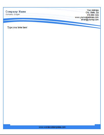 Official Letterhead Microsoft Word free letterhead design in word format business