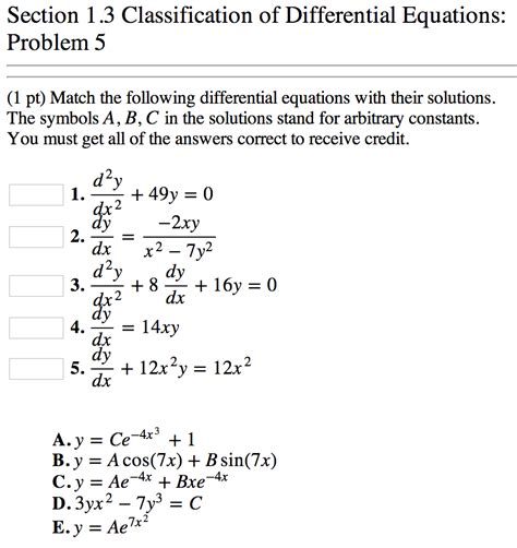 match com help section section 1 3 classification of differential equations