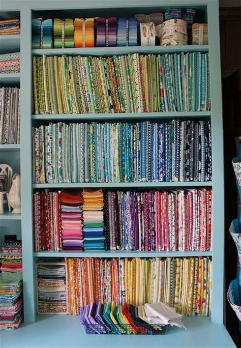 How To Store Quilt Fabric by How To Display Your Fabric Stash