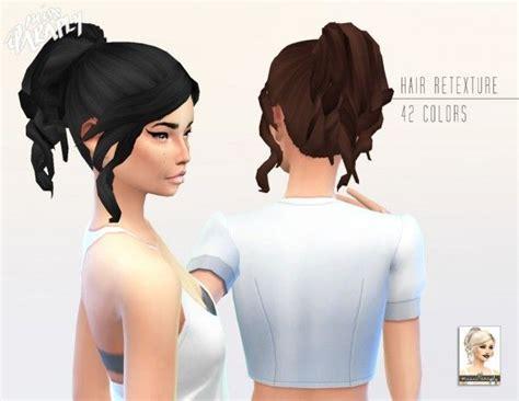 ponytail hair sims 4 miss paraply kiara 24 curly ponytail hairstyle retextured
