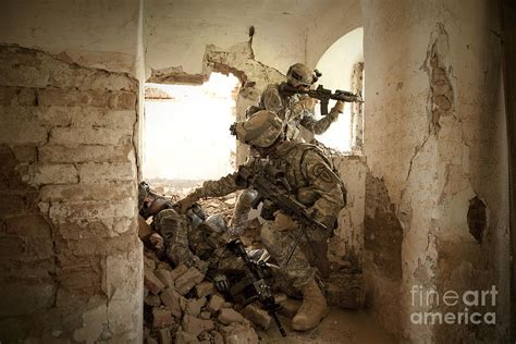 Kid Duvet U S Army Rangers In Afghanistan Combat Photograph By Tom