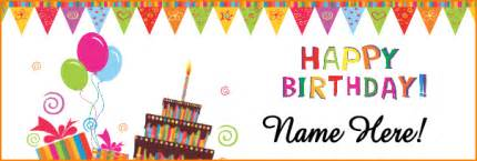 Birthday Banner Template by 6 Happy Birthday Banner Template Bibliography Format