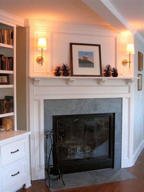 soapstone fireplace surround Living Room Modern with