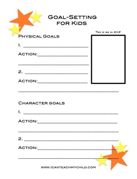 goal sheet template for students goal setting for children with tips and worksheets early