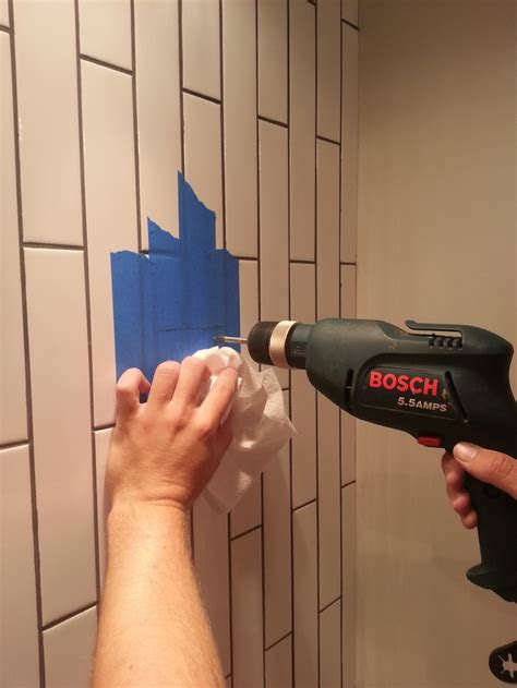 how to drill through bathroom tiles how to drill into tile decor and the dog