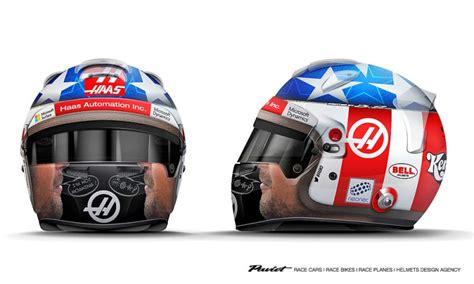 demi penghormatan kepada mendiang hayden grosjean desain helm baru untuk balapan di cota