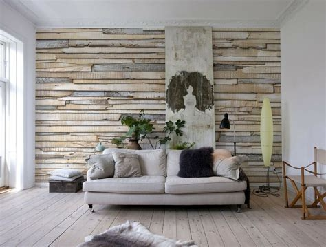 whitewashed wood photo wallpaper wall mural wooden wall
