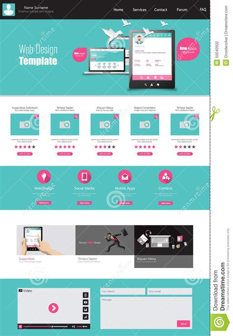 home design free website one page business website template home page design