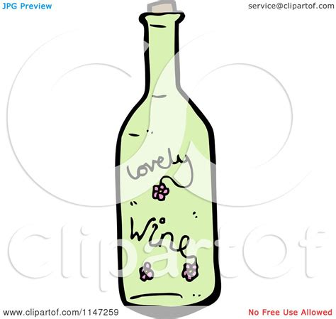 cartoon wine bottle cartoon of a green wine bottle royalty free vector