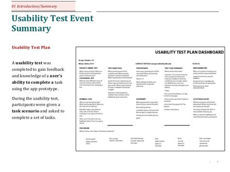 usability test report sle student project technical writing multimodal visual