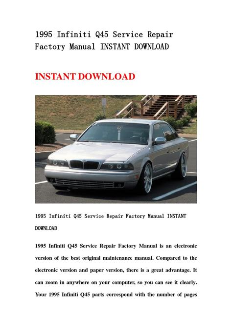 auto air conditioning repair 1995 infiniti q electronic valve timing 1995 infiniti q45 service repair factory manual instant download by jshefnns issuu