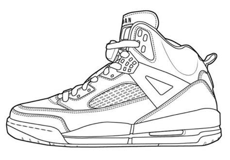 basketball shoe coloring page club des jeunes de mont pr 233 s chambord coloriage nike air