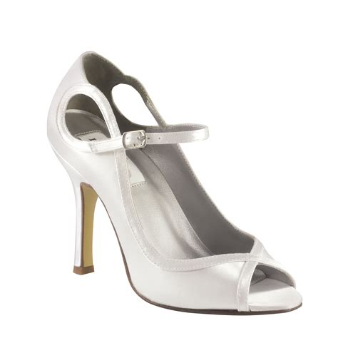 White Satin Bridal Shoes by Dyeables Tessa White Satin 3 1 2 Quot Heel Dyeable Shoe Store