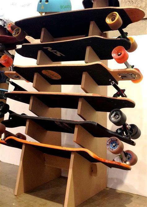 skateboard longboard snowboard floor display rack will