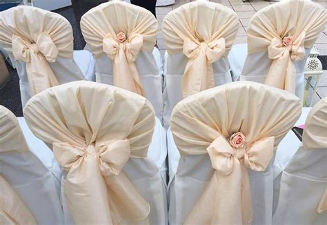 pink and gold chair sashes chair cover hire sash bows hire wedding table swagging