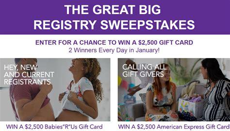 Babies R Us Registry Giveaway - babies r us registry giveaway daily 2 500 prizes