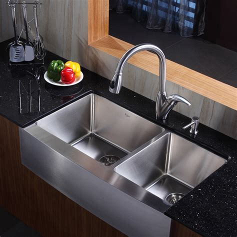 kitchen faucets for farm sinks stainless steel sink try this spark naturals blog