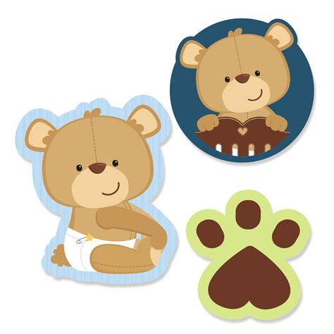 Baby Shower Bears by Baby Shower Teddy Clip