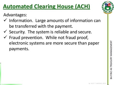 mortgage clearing house 141124 cash management payment systems