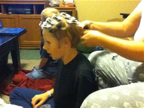 sponge curlers stories the hughes news crazy hair day