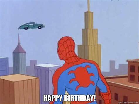 Spiderman Happy Birthday Meme - happy birthday fast car spiderman quickmeme
