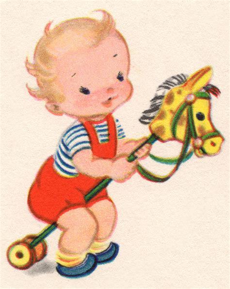 retro baby clipart