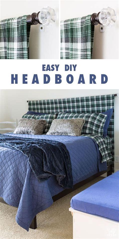 easy headboard best 20 curtain rod headboard ideas on pinterest