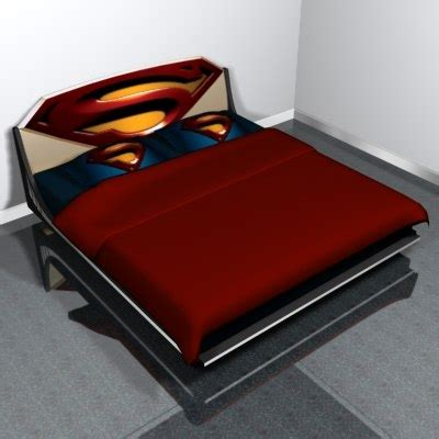superman bed bed superman 3d model