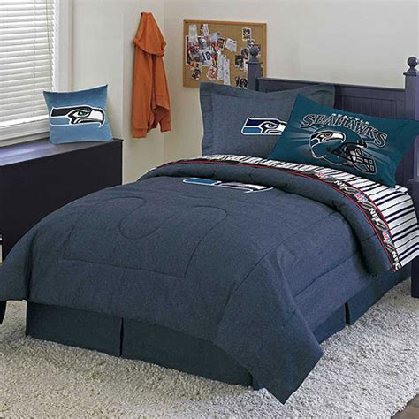 seahawks bedding twin seattle seahawks nfl team denim twin comforter sheet set