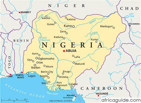 nigeria africa map nigeria guide
