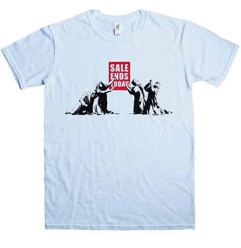when and fashion collide wearing banksy t shirts