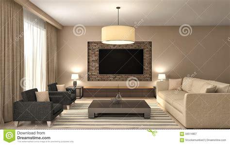 modern brown living room modern brown living room interior design 3d illustration stock illustration image 56514807