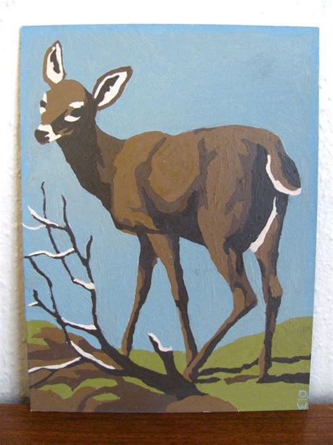 bob ross painting deer vintage paint by number deer deer paint by number and