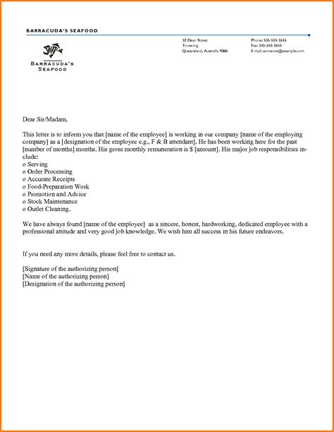 Employment Confirmation Letter From Employer Sle letter of employment template sle employment letter 40