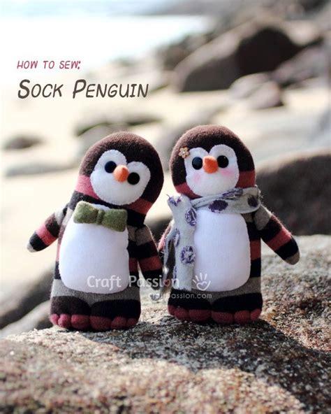 sock animals penguin sock penguin free sewing pattern sock animals