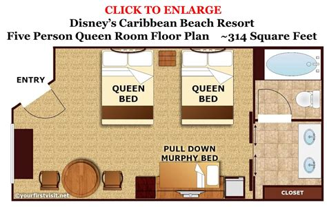 Bay Lake Tower One Bedroom Villa Floor Plan by Sleeping Space Options And Bed Types At Walt Disney World
