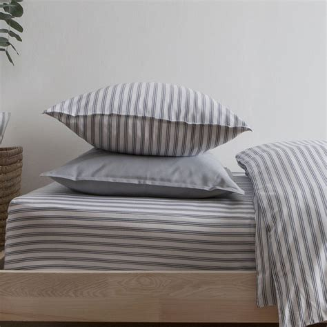 Fe Set Adelio Kid Grey silentnight printed cot bed duvet cover ticking stripe blue grey toddler cot bed duvet