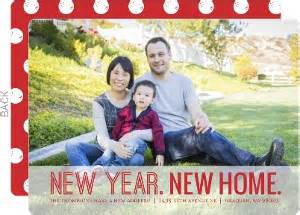New Year New Home by Deer Family Moving Announcement Moving