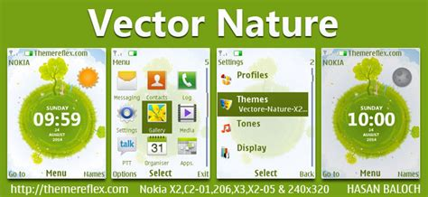 nokia c2 nature themes vector naure live theme for nokia x2 00 x2 02 x2 05 x3
