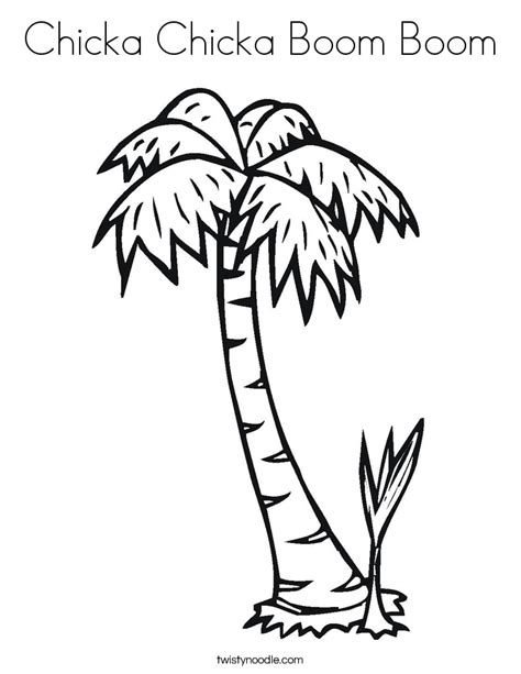 chicka chicka boom boom tree template chicka chicka boom boom coloring page twisty noodle