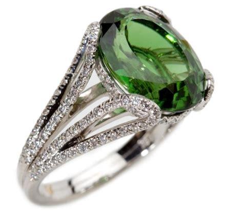 Home Design Diamonds chrome tourmaline ring