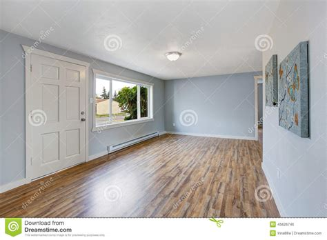 Empty house interior with light blue walls stock photo image 45626746