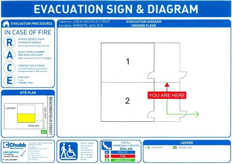 emergency evacuation floor plan template and
